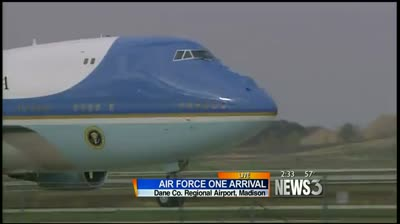 President Obama lands in Madison