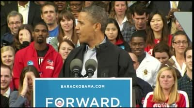 Watch Obama's full campaign speech at UW-Madison