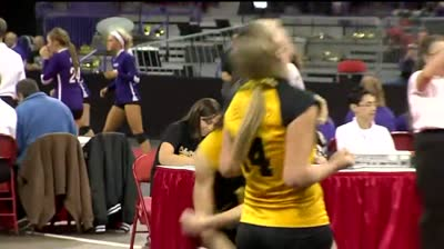 Girl's volleyball state tournament: Cuba City vs. Octonto