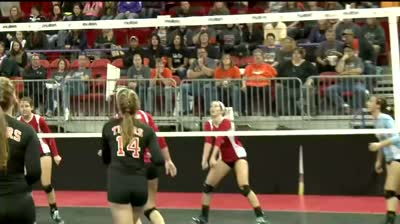 Girl's volleyball state tournament: Hillsboro vs. Newman Catholic