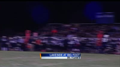 WIAA football playoff level 3 match up between undefeated teams: Lakeside Lutheran at Big Foot